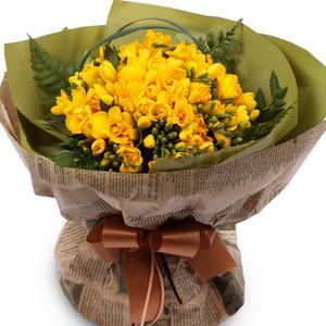후리지아(꽃다발)