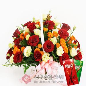예쁜그대(꽃바구니)+빼빼로2개
