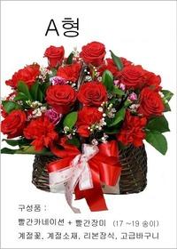 A형 빨강카네이션혼합꽃바구니